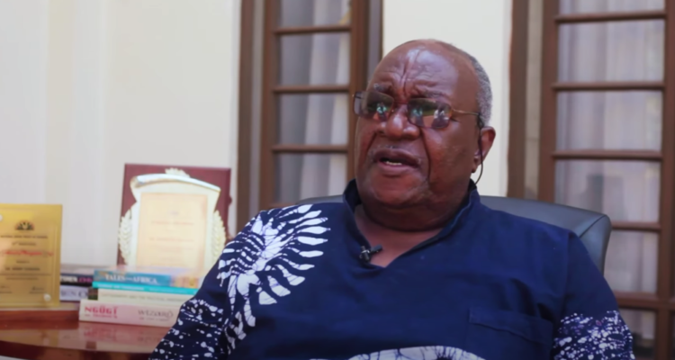 """Henry Chakava is a Kenyan publisher. He has focused on the publication of books particularly in East Africa and has been called """"the father of Kenyan publishing""""."""