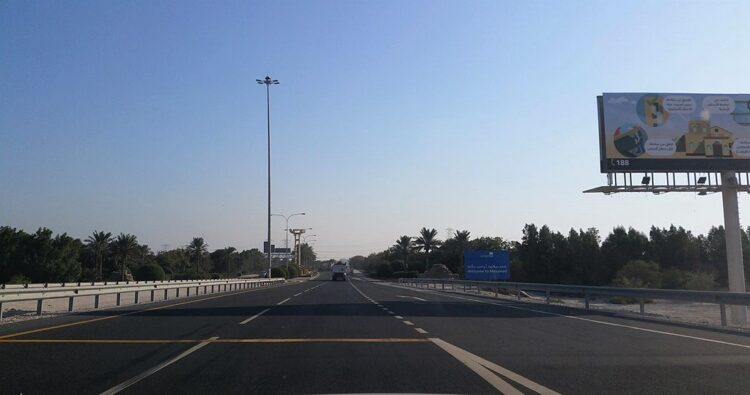Welcome sign to Mesaieed bobbyqat @ Mapillary.com - This file comes from Mapillary, a service for sharing geotagged photos. All photos are under a CC BY-SA 4.0 license meaning the individual photographer must be credited for each image. Welcome sign to Mesaieed on Mesaieed Road in Qatar.